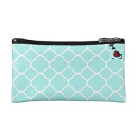 blue clouds by j3ll3y wristlet purse
