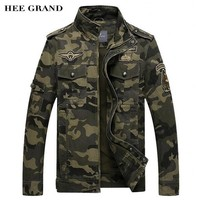 HEE GRAND Men Camouflage Jackets 2017 New Arrival Spring & Autumn Straight High Quality Military Coats Plus Size M-3XL MWJ1782