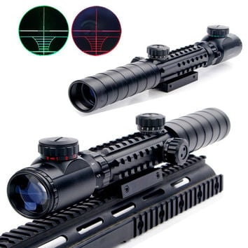 New 3-9x32EG Tactical Riflescope Red&Green Illuminated Reticle Airsoft Hunting Rifle Scope with Lens Cover E