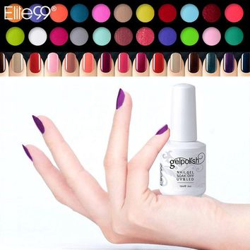 Elite99 UV Nail Polish Top Quality 15ml Three Step UV Curing Gel Color Gorgeous Nails Gel Colored Avaliable Choose Any 1 Color