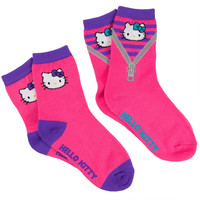 Hello Kitty - Zipper & Face Kids Socks 2 Pack
