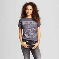 Women's Led Zeppelin® Boyfriend Fit Graphic T-Shirt Charcoal Gray (Juniors')