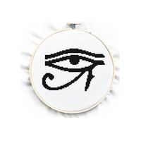 Eye of Horus , Blackwork, Cross Stitch Pattern , PDF beginner cross stitch, No.46, Protection Sign