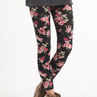 Nollie Black Rose Ponte Leggings at PacSun.com