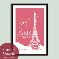 Paris Eiffel Tower Travel Posters  13x19 Poster by pixiepixels