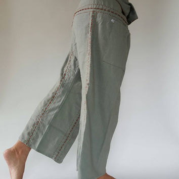 Handmade Thai Fisherman Pants Wide Leg pants, Wrap pants, Unisex pants