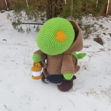 Final Fantasy Inspired: Tonberry Amigurumi (Crochet Plushie/Plush Toy) - Extra Large Size - MADE TO ORDER!