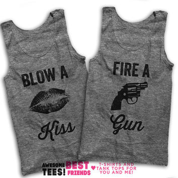 Blow A Kiss, Fire A Gun Matching Best Friends Tanks