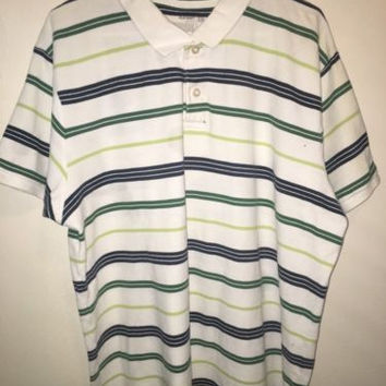 Old Navy Polo, Size XXL, Blue And Green Striped, Great Condition !