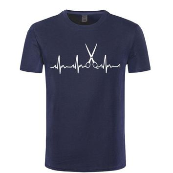 Heartbeat Of Scissor Hair Dresser Hairstylist T-Shirt - Men's Short Sleeve Tops