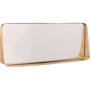 Gold Short Wall Mirror