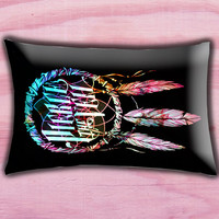 "Dream Catcher Pierce The Veil Pillow Cover, Pillow case, Throw Bed Bedroom, Size 30"" x 20"""