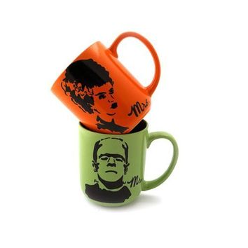 Mr and Mrs Frankenstein Mug Set