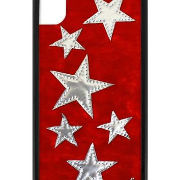 Red Velvet Silver Stars iPhone Xr Case