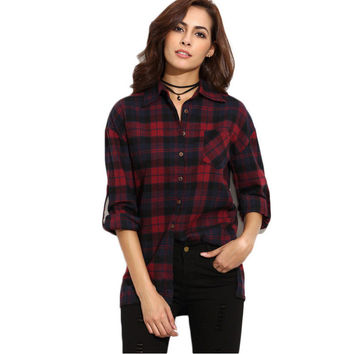 Plaid Cardigan Shirt