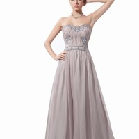 Dressystar Long Chiffon Beautiful Evening Party Dress for teens for sweet 16
