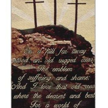 Old Rugged Cross Religious Bell Pull Tapestry Wall Hanging