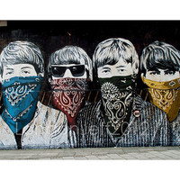 Mr Brainwash.. The beatles. street art. graffiti in London photography.photo print