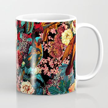 FLORAL AND BIRDS XVII Coffee Mug by burcukorkmazyurek