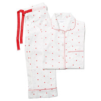 Jamie cotton set white pink dot M, Pajamas