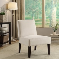 Ave Six LAG51-X12 Laguna Chair in Oyster Velvet Fabric with Dark Espresso Legs