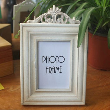 Retro Vintage Plain Beige Home Decoration Photo Frame Picture Frame Resin 4'' x 6''