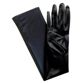 Long Satin Opera Gloves for dress up, cosplay, photo props