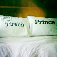 Princess & Prince or is he a Frog pillowcase set by dustysandlulu