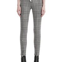 CHECK TAILORING HIGH WAISTED LEGGING | PANTS | Alexander Wang Official Site