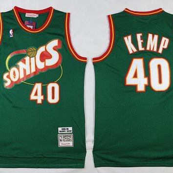 Seattle Supersonics #40 Shawn Kemp Classic Retro Swingman Jersey