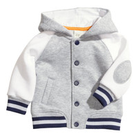 H&M - Baseball Jacket - Grey - Kids