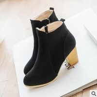 Ankle Boots No Zipper