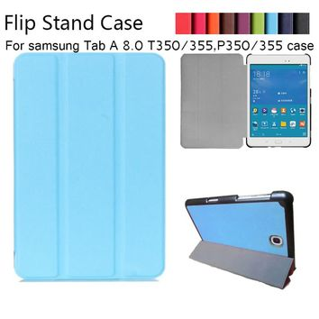 Magnet Luxury Stand pu Leather Case Cover For Samsung Galaxy Tab A 8.0 T350 T355 SM-T355 tablet funda cases