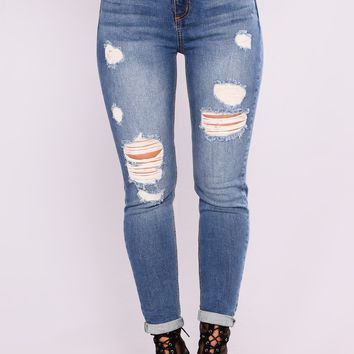 Not Your Girl Boyfriend Jeans - Medium Wash Denim