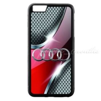 Best Audi Silver Grid Logo for iPhone 8 8+ 7 7+ 6 6+ 6s 6s+ Hard Plastic Case