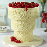 Upside Down White Chocolate Swirl Wedding Cake | M&S