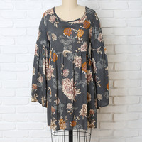 Azalea Bell Sleeve Dress-FINAL SALE