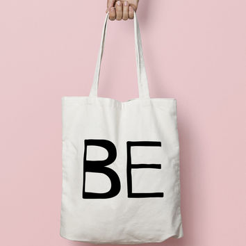 Tote Bag Canvas Funny Typhography Totes  - Friends Bag Half Piece - Market Bag Canvas - Printed Tote Bag Hand Drawn - Quote Tote Bag
