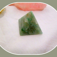 """""""Draw in the Luck"""" Green Aventurine Pyramid"""