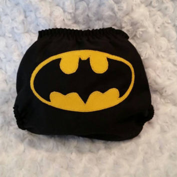 Batman Cloth Diaper Cover or Pocket Diaper- One-Size or Newborn, S, M, L