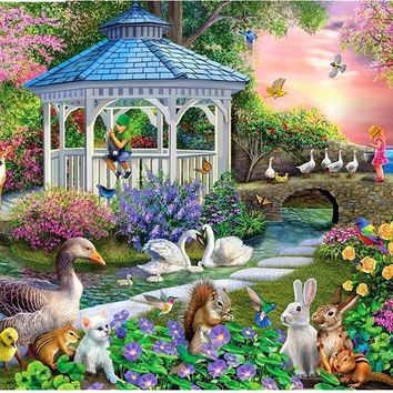 5D Diamond Painting Garden Animals Kit