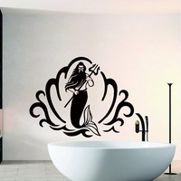 Wall Decals for Bathroom King of the Seas with Trident Decal Vinyl Sticker Home Shower Decor Interior Window Decals Art Murals Chu1384