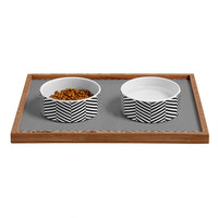 Three Of The Possessed Leaves Pet Bowl and Tray
