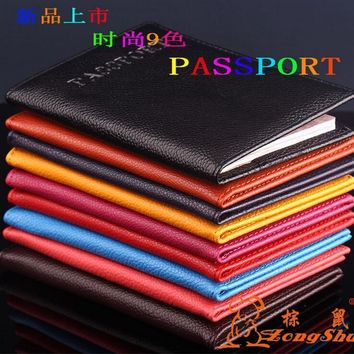 Travel Rfid Blocking Personalized New Alligator Embossing Passport Holder Protector Fashion Passport Cover PU Leather Wallet