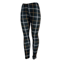 Black & Brown Plaid Leggings