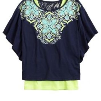Graphic Circle Top 2fer | Girls Tops Clothes | Shop Justice