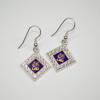 LSU Rhinestone Earrings