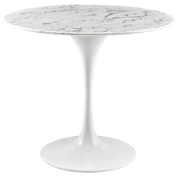 """Lippa 36"""" Round Artificial Marble Dining Table"""