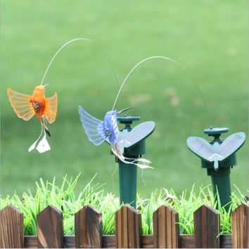 Solar Powered Electric Rotating Butterfly Hummingbird Decorative pet dog cat Toys Fly Simulation Butterfly pet funny toys