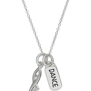 Unwritten Sterling Silver Necklace, Dance and Figure Charm Pendant - Necklaces - Jewelry & Watches - Macy's